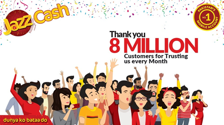 JazzCash crosses 8 million active mobile account users