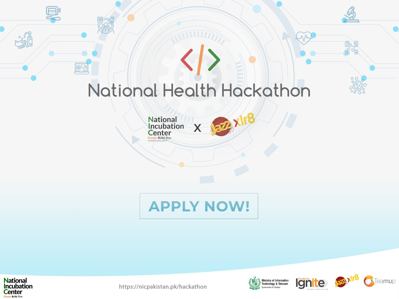launch a National Health Hackathon on COVID-19 & communicable diseases