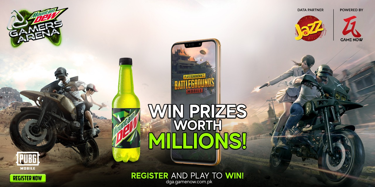We're collaborating with Mountain Dew for Online gaming